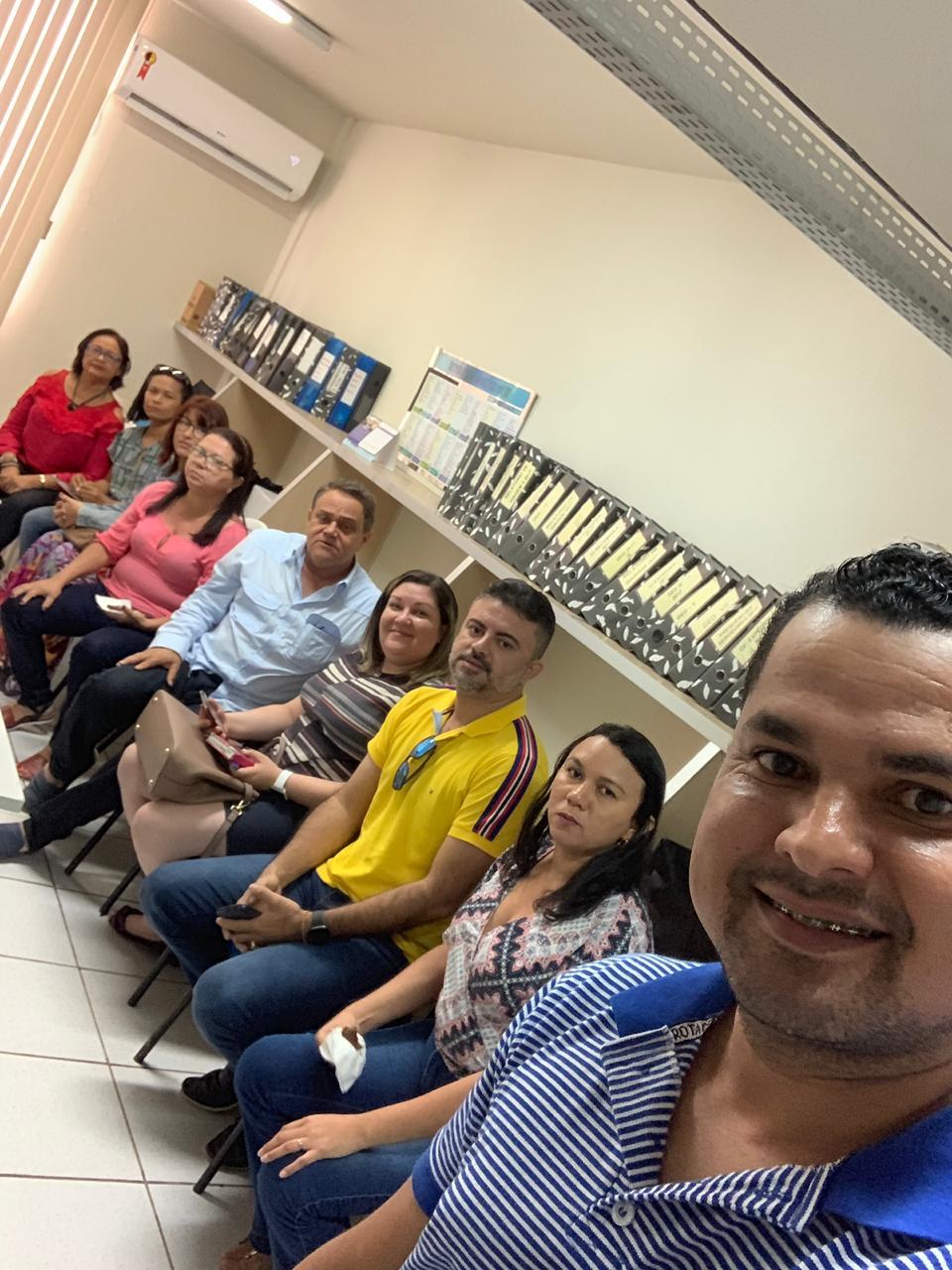 Joaquim Neto, e o Vice-presidente, Marcony Pinheiro, estiveram reunidos com a coordenação Estadual do Projeto SEAMA.